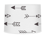 Arrow Print Lamp Shade for Black and White Fox Collection by Sweet Jojo Designs
