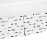 Arrow Print Queen Bed Skirt for Black and White Fox Bedding Sets