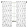Arrow Print Window Treatment Panels for Black and White Fox Collection by Sweet Jojo Designs - Set of 2
