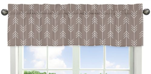 Arrow Print Window Valance for Outdoor Adventure Collection by Sweet Jojo Designs - Click to enlarge