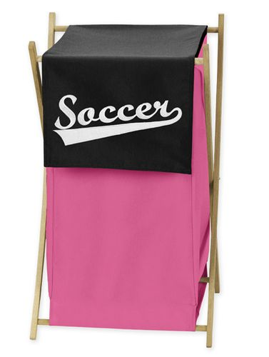 Baby and Kids Clothes Girls Soccer Laundry Hamper by Sweet Jojo Designs - Click to enlarge