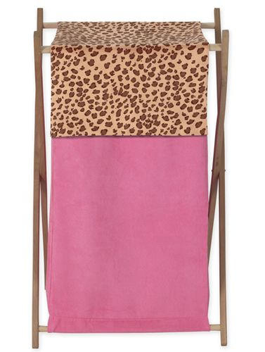 Baby and Kids Clothes Laundry Hamper for Cheetah Girl Pink and Brown Bedding Sets - Click to enlarge