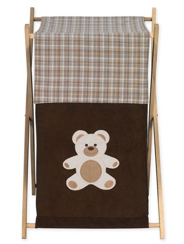 Baby and Kids Clothes Laundry Hamper for Chocolate Teddy Bear Bedding - Click to enlarge
