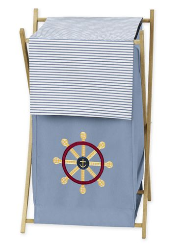 Baby and Kids Clothes Laundry Hamper for Come Sail Away Bedding - Click to enlarge