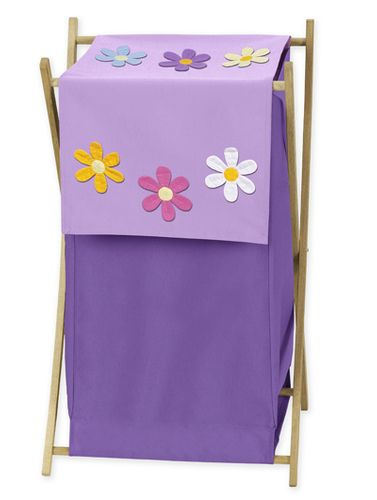 Baby and Kids Clothes Laundry Hamper for Danielle's Daisies Bedding - Click to enlarge