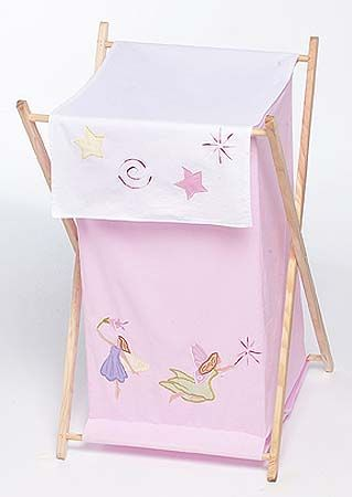 Baby and Kids Clothes Laundry Hamper for Fairy Tale Fairies Bedding - Click to enlarge