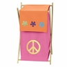 Baby and Kids Clothes Laundry Hamper for Groovy Peace Sign Bedding