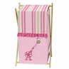 Baby and Kids Clothes Laundry Hamper for Pink and Green Jungle Friends Bedding