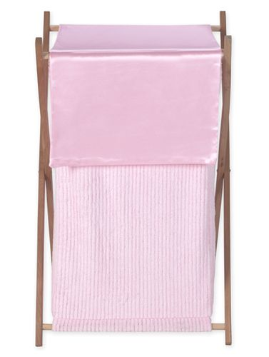 Baby and Kids Clothes Laundry Hamper for Pink Chenille Bedding - Click to enlarge