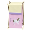 Baby and Kids Clothes Laundry Hamper for Pretty Pony Horse Bedding