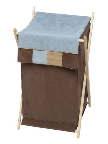 Baby and Kids Clothes Laundry Hamper for Soho Blue and Brown Bedding by Sweet Jojo Designs - Click to enlarge