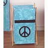 Baby and Kids Clothes Laundry Hamper for Turquoise Groovy Peace Sign Tie Dye Bedding