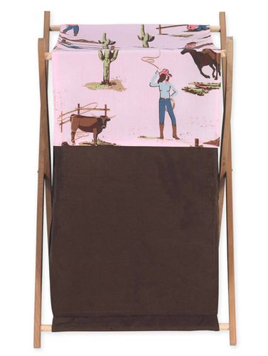 Baby and Kids Clothes Western Horse Cowgirl Laundry Hamper by Sweet Jojo Designs - Click to enlarge