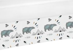 Baby Boy Crib Bed Skirt Dust Ruffle for Bear Mountain Watercolor Collection by Sweet Jojo Designs