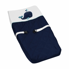 Baby Changing Pad Cover for Blue Whale Collection by Sweet Jojo Designs