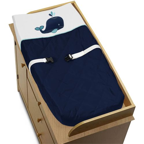 Baby Changing Pad Cover for Blue Whale Collection by Sweet Jojo Designs - Click to enlarge