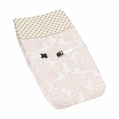 Baby Changing Pad Cover for Blush Pink, Gold and White Amelia Collection by Sweet Jojo Designs