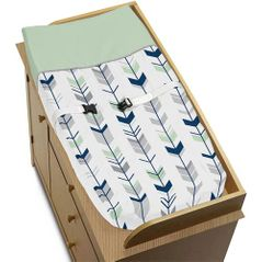 Baby Changing Pad Cover for Grey, Navy Blue and Mint Woodland Arrow Collection by Sweet Jojo Designs