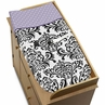 Baby Changing Pad Cover for Lavender, Purple, Black and White Sloane Collection by Sweet Jojo Designs