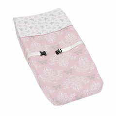 Baby Changing Pad Cover for Pink and Gray Alexa Butterfly Collection by Sweet Jojo Designs