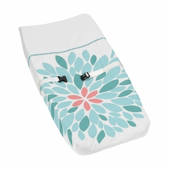 Baby Changing Pad Cover for Turquoise and Coral Emma Collection by Sweet Jojo Designs
