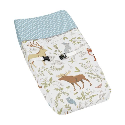 Baby Changing Pad Cover for Woodland Animal Toile Collection by Sweet Jojo Designs - Click to enlarge