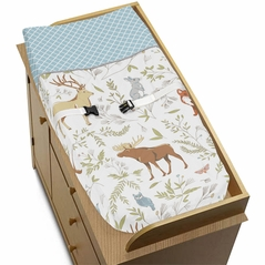 Baby Changing Pad Cover for Woodland Animal Toile Collection by Sweet Jojo Designs