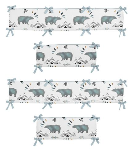 Baby Crib Bumper Pad for Bear Mountain Watercolor Collection by Sweet Jojo Designs - Click to enlarge