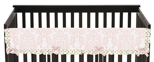 Baby Crib Long Rail Guard Cover for Blush Pink, Gold and White Amelia by Sweet Jojo Designs - Click to enlarge