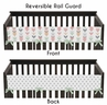 Baby Crib Long Rail Guard Cover for Grey, Coral and Mint Woodland Arrow Collection by Sweet Jojo Designs