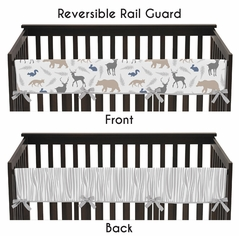 Baby Crib Long Rail Guard Cover for Woodland Animals by Sweet Jojo Designs