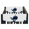 Baby Crib Side Rail Guard Covers for Blue Whale Collection by Sweet Jojo Designs - Set of 2