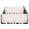 Baby Crib Side Rail Guard Covers for Blush Pink, Gold and White Amelia Collection by Sweet Jojo Designs - Set of 2