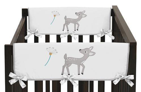 Baby Crib Side Rail Guard Covers for Forest Deer and Dandelion Collection by Sweet Jojo Designs - Set of 2 - Click to enlarge