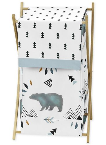Baby Kid Clothes Laundry Hamper for Bear Mountain Watercolor Collection by Sweet Jojo Designs - Click to enlarge