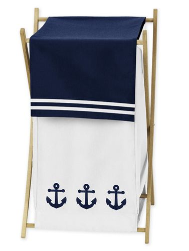 Baby/Kids Clothes Laundry Hamper for Anchors Away Nautical Bedding - Click to enlarge