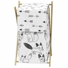 Baby/Kids Clothes Laundry Hamper for Black and White Fox Bedding by Sweet Jojo Designs