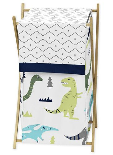 Baby/Kids Clothes Laundry Hamper for Blue and Green Mod Dinosaur Bedding by Sweet Jojo Designs - Click to enlarge