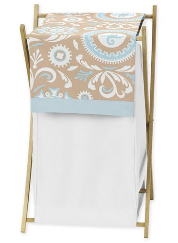 Baby/Kids Clothes Laundry Hamper for Blue and Taupe Hayden Bedding by Sweet Jojo Designs - Click to enlarge