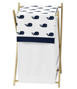 Baby/Kids Clothes Laundry Hamper for Blue Whale Bedding by Sweet Jojo Designs