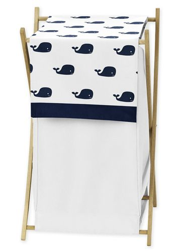 Baby/Kids Clothes Laundry Hamper for Blue Whale Bedding by Sweet Jojo Designs - Click to enlarge