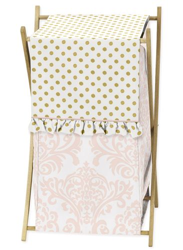 Baby/Kids Clothes Laundry Hamper for Blush Pink, Gold and White Amelia Bedding by Sweet Jojo Designs - Click to enlarge