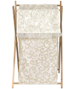 Baby/Kids Clothes Laundry Hamper for Champagne and Ivory Victoria Bedding by Sweet Jojo Designs