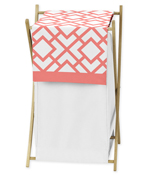 Baby/Kids Clothes Laundry Hamper for Coral and White Diamond Bedding