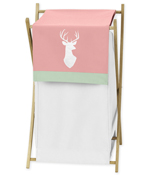 Baby/Kids Clothes Laundry Hamper for Coral, Mint and Grey Woodsy Bedding by Sweet Jojo Designs