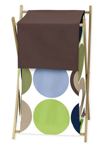Baby/Kids Clothes Laundry Hamper for Designer Dot Bedding by Sweet Jojo Designs - Click to enlarge