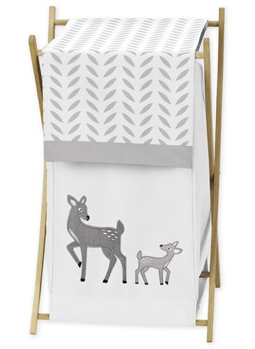 Baby/Kids Clothes Laundry Hamper for Forest Deer and Dandelion Bedding by Sweet Jojo Designs - Click to enlarge