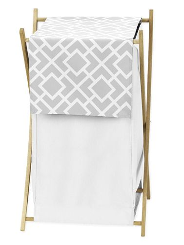 Baby/Kids Clothes Laundry Hamper for Gray and White Diamond Bedding by Sweet Jojo Designs - Click to enlarge