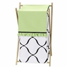 Baby/Kids Clothes Laundry Hamper for Green, Black and White Princess Bedding