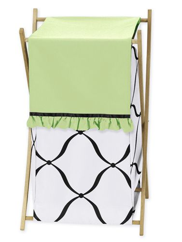 Baby/Kids Clothes Laundry Hamper for Green, Black and White Princess Bedding - Click to enlarge